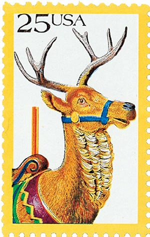 1988 25c Carousel Animals: Deer
