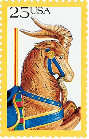 1988 25c Carousel Animals: Goat