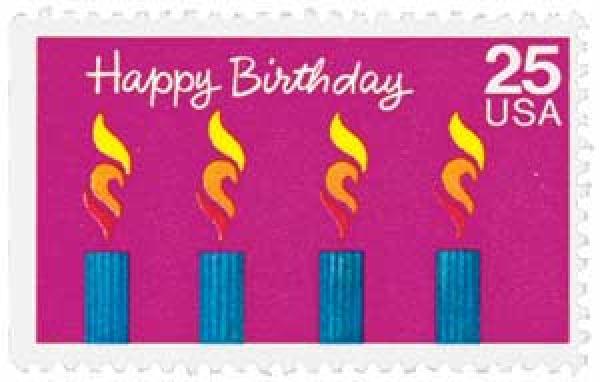1988 25c Happy Birthday