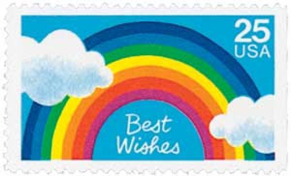 1988 25c Best Wishes