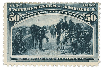 1893 50c Columbian Commemorative: Recall of Columbus