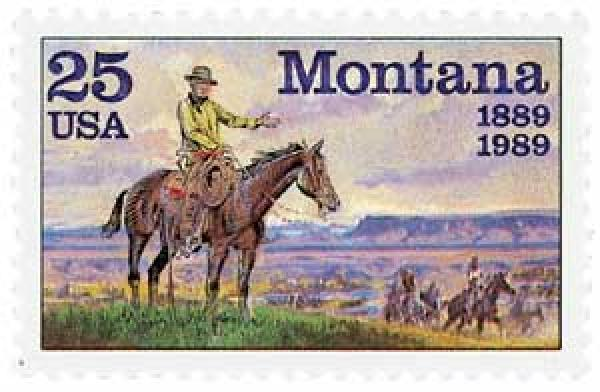U.S. #2401 features a painting by famed cowboy artist C.M. Russell.
