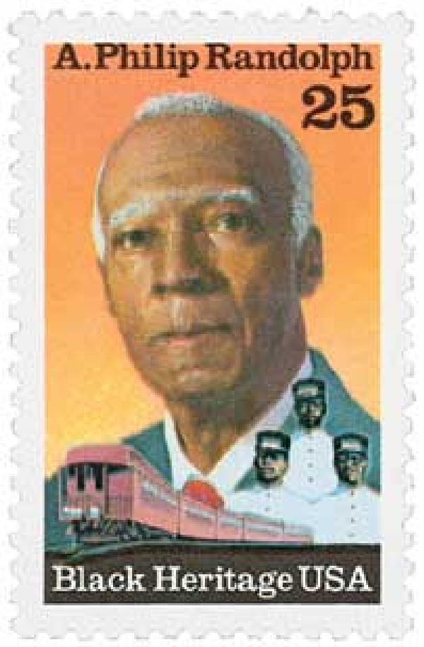 1989 25c Black Heritage: A. Philip Randolph