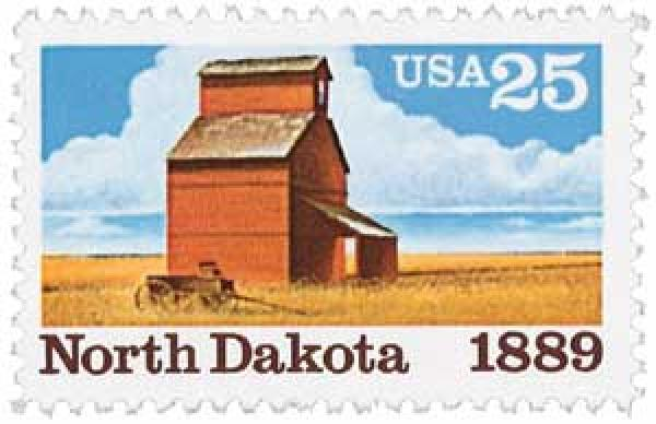 U.S. #2403 was issued for the centennial of North Dakota' statehood.