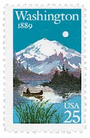 1989 25c Washington Statehood