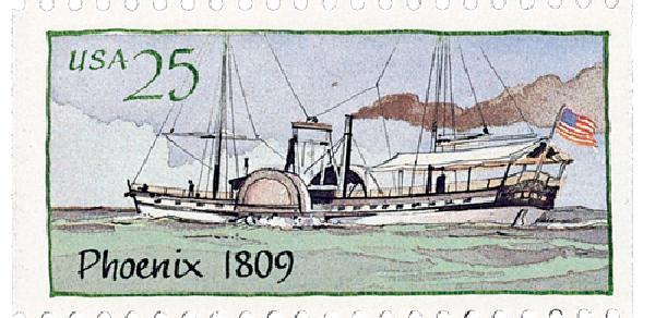 1989 25c Steamboats: Phoenix 1809