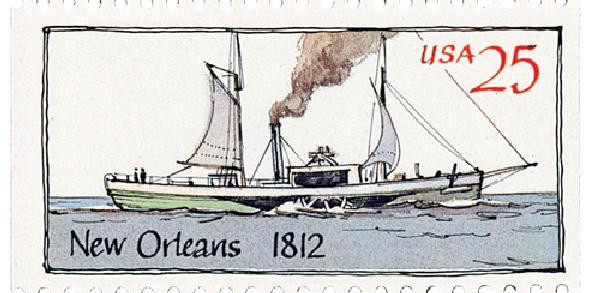 1989 25c Steamboats: New Orleans 1812