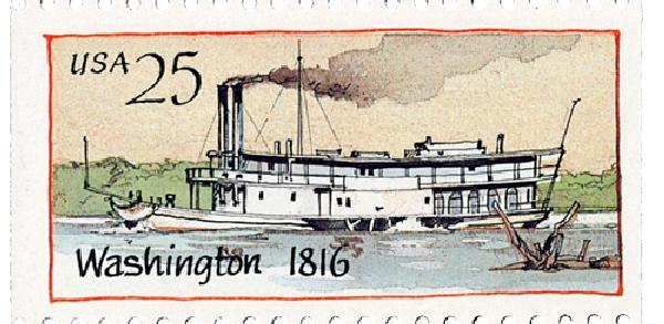 1989 25c Steamboats: Washington 1816