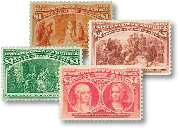 1893 Columbians, Set of 4