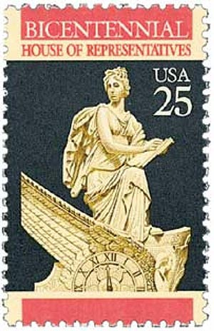 1989 25c Constitution Bicentennial: House of Representatives