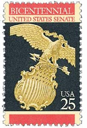 1989 25c Constitution Bicentennial: United States Senate
