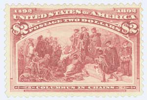 1893 $2 Columbian Commemorative: Columbus in Chains