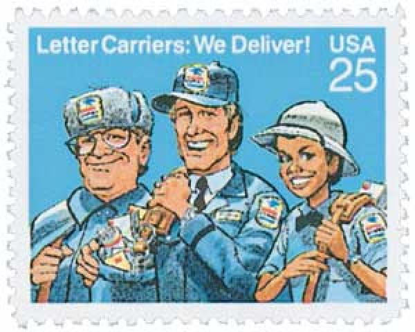 1989 25c Letter Carriers