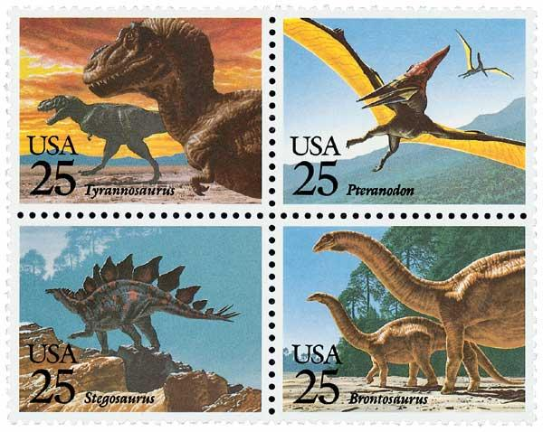 1989 25c Prehistoric Animals