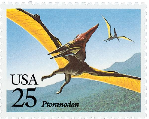 1989 25c Prehistoric Animals: Pteranodon