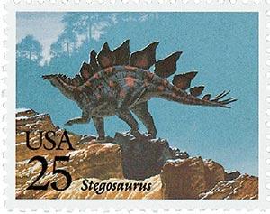 1989 25c Prehistoric Animals: Stegosaurus