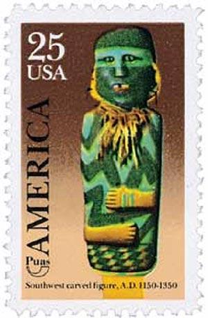 1989 25c Southwest Carved Figure