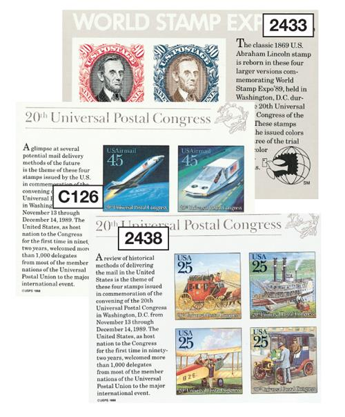 U.S. #2433//C126 were issued for the 20th Universal Postal Congress.