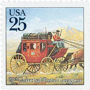 1989 25c Traditional Mail Delivery: Stagecoach