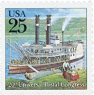 1989 25c Steamboat