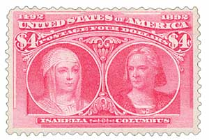 1893 $4 Columbian Commemorative: Isabella and Columbus