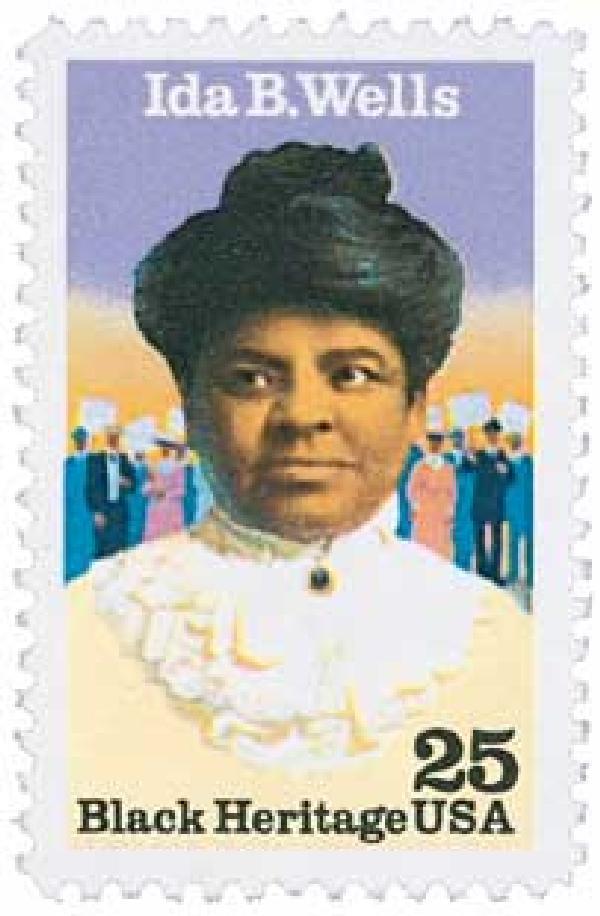 1990 25c Black Heritage: Ida B. Wells