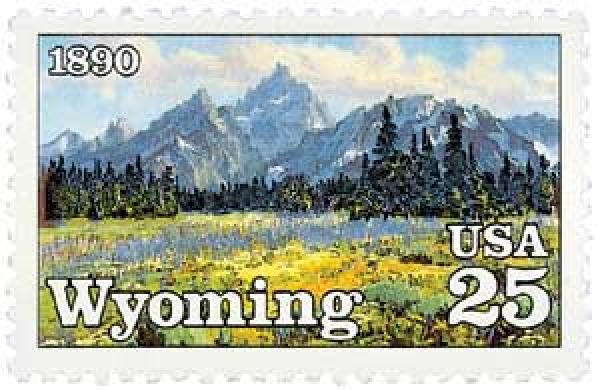 1990 25c Wyoming Statehood