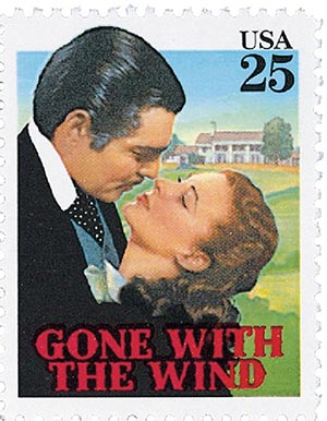 1990 25c Classic Films: Gone With the Wind