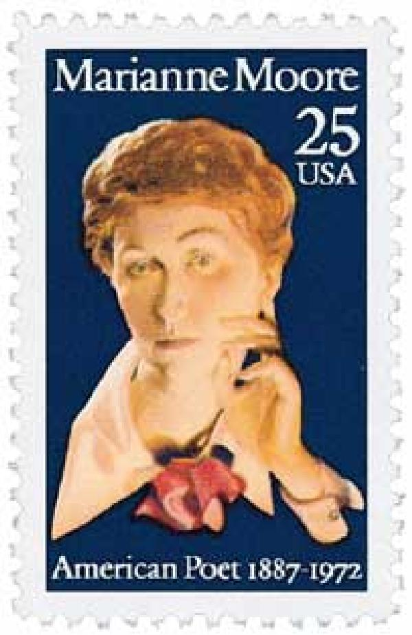 1990 25c Literary Arts: Marianne Moore
