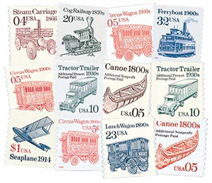 1990-95 Transportation Series, set of 12
