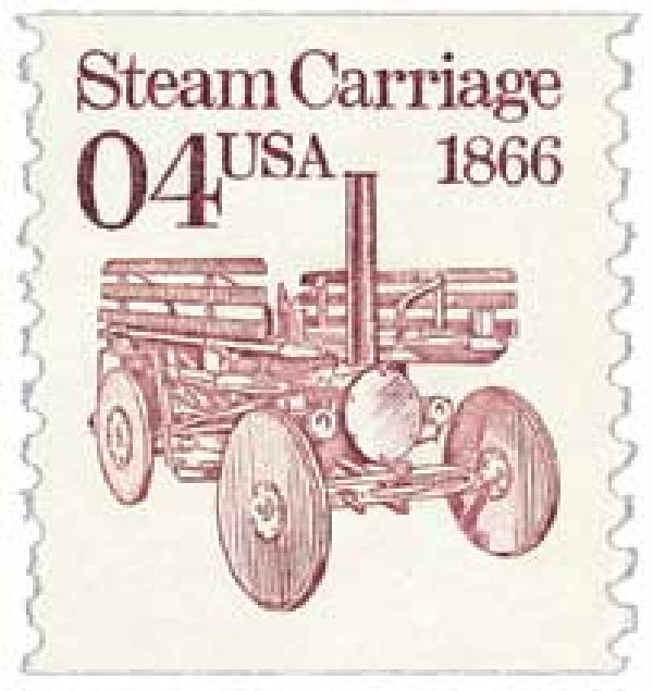 1991 4c Transportation Series: Steam Carriage, 1866