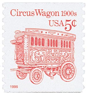 1995 5c Transportation Series: Circus Wagon 1900s