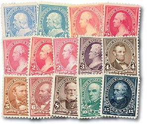 1894-95 Bureau Issues unwatermarked