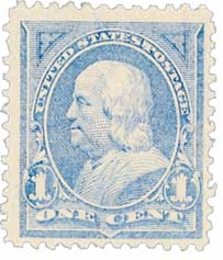 1894 1c Franklin, unwatermarked