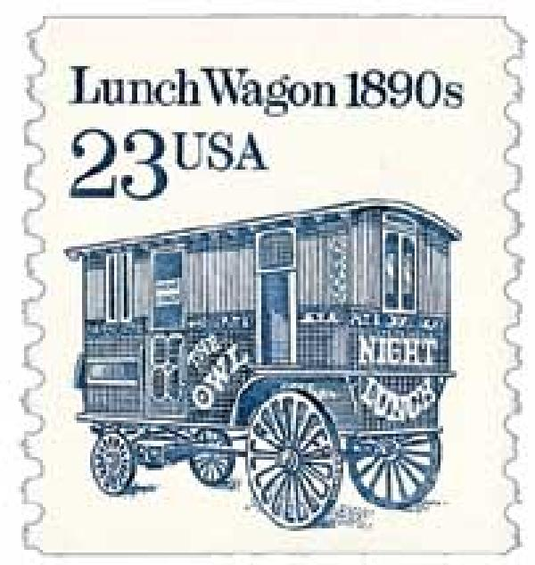 1991 23c Lunch Wagon coil