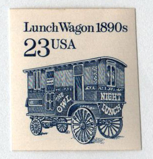1991 23c Lunch Wagon coil imperf