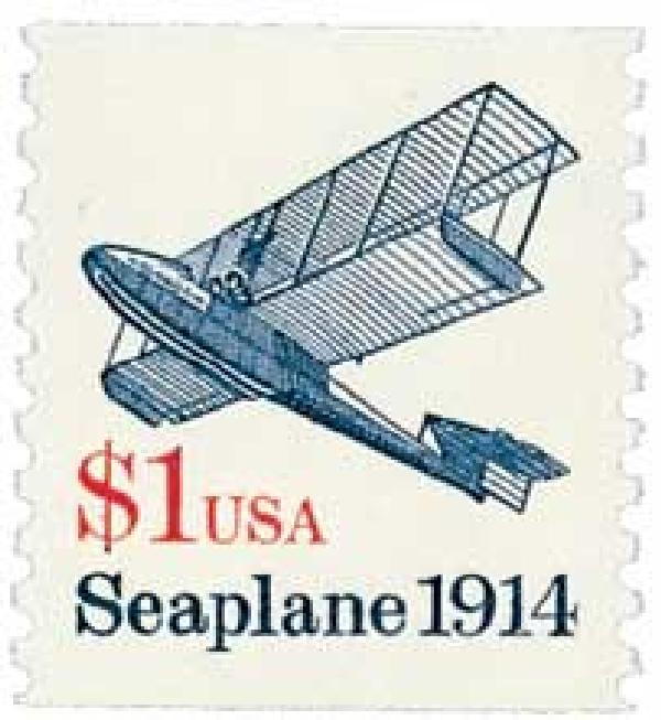 1990-94 $1 Transportation Series: Seaplane, 1914