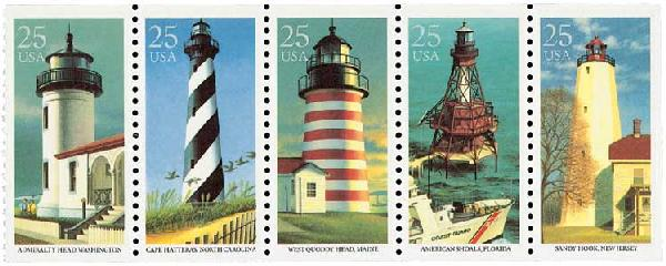 1990 25c East Coast Lighthouses