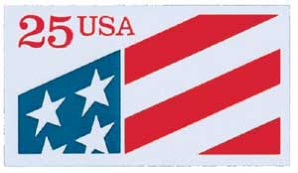 1990 25c Plastic Flag