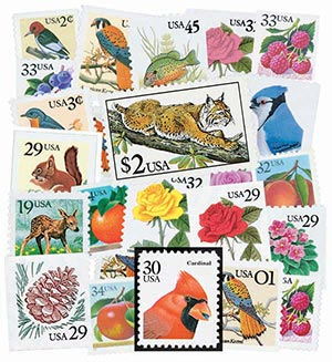 1990-2001 Flora & Fauna Series, Set of 55 Stamps
