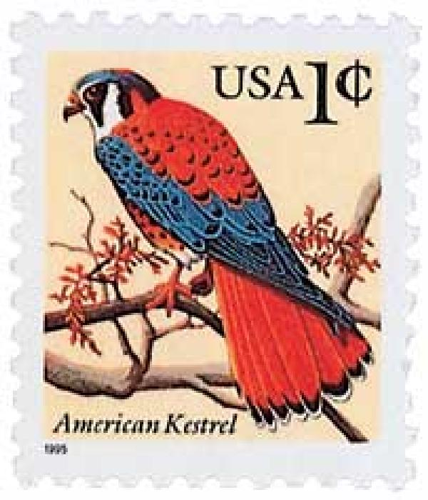 1995 1c American Kestrel (cent sign)