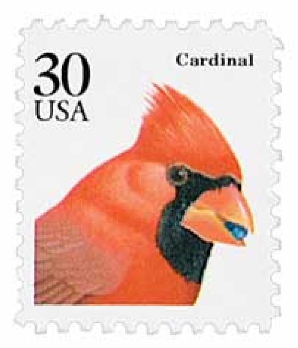 1991 30c Cardinal