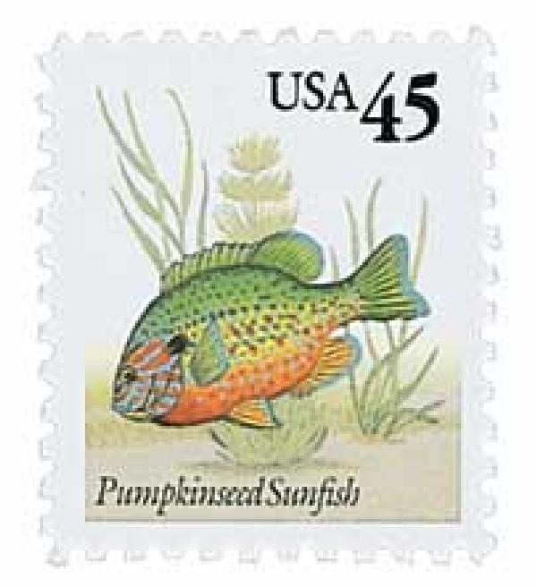 1992 45c Pumpkinseed Sunfish