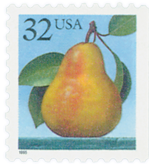 1995 32c Pear, booklet single