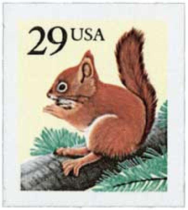 1993 29c Red Squirrel