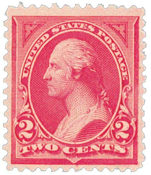 1894 2c Washington type 1,carmine lake