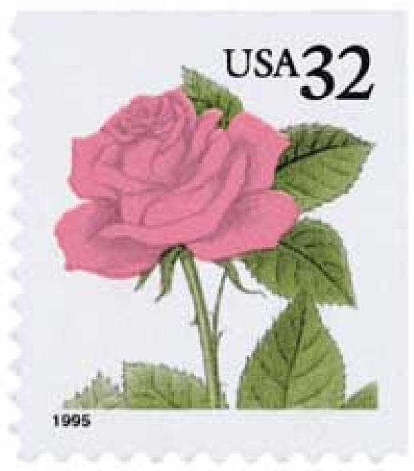 1995 32c Pink Rose