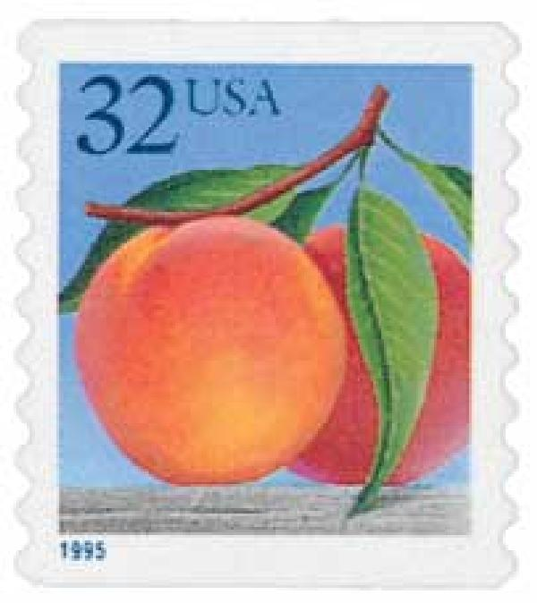 1995 32c Peaches, self-adhesive coil