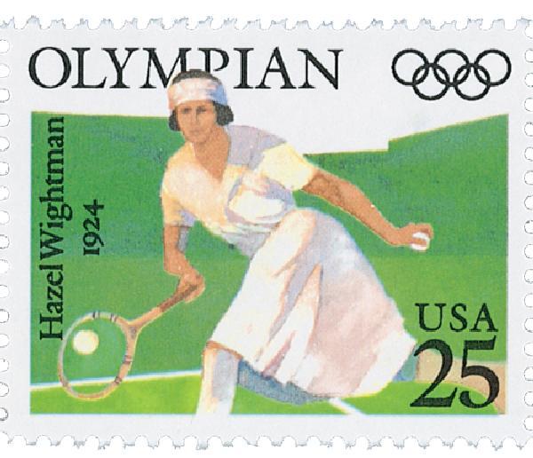 1990 25c Olympians: Hazel Wightman