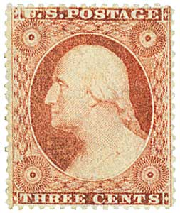 1857-61 3c Washington, Type 1